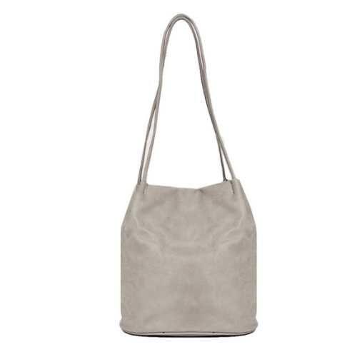 Shoulder Bag with Long straps. Light Grey