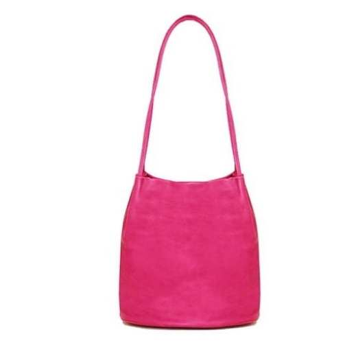 Shoulder Bag with Long straps. Pink