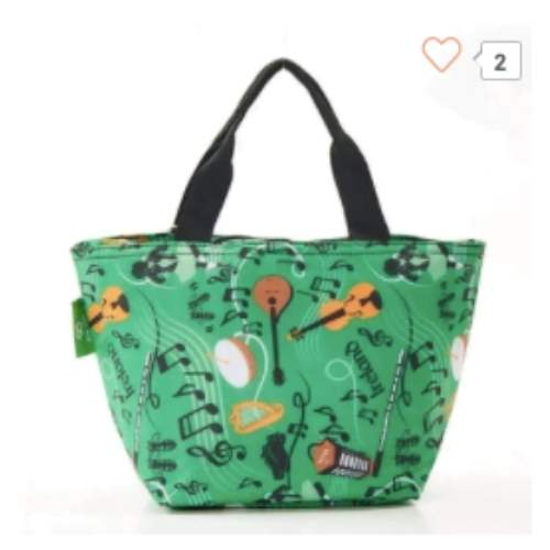 Eco Chic Music Lunch Bag