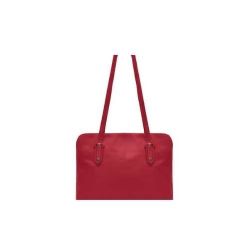 Red Leather Shoulder bag. Holly