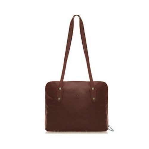 Brown Leather handbag. Holly.