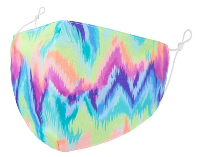 face mask vibrant zig zag print