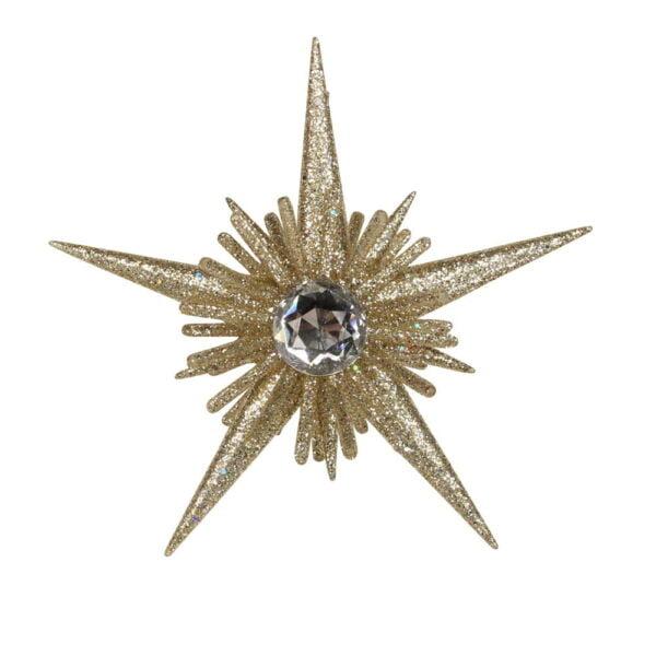 gold glitter str ornament