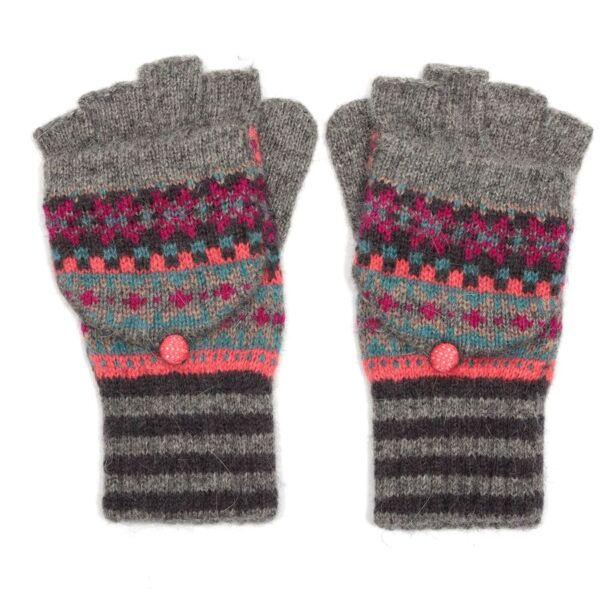 Multicoloured Stripey Woolen Winter Fingerless Gloves/Mittens
