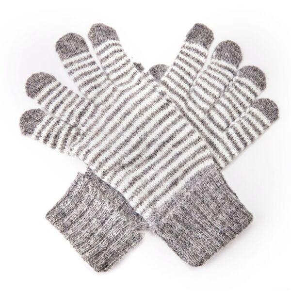 Stripet Warm wool winter gloves