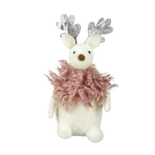 Felt moose christmas decoration