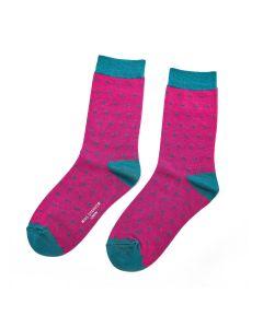 Miss Sparrow Ladies Bamboo Socks, Spotty