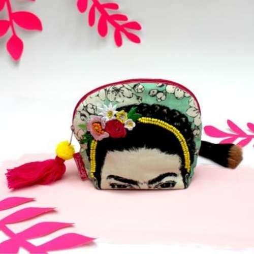 Frida Kahlo Embroidered Make Up Bag