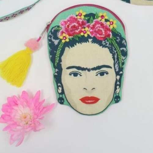 Frida Kahlo Embroidered Coin Purse