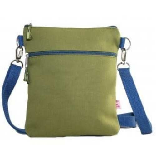 Lua Small Canvas Bag. Lime