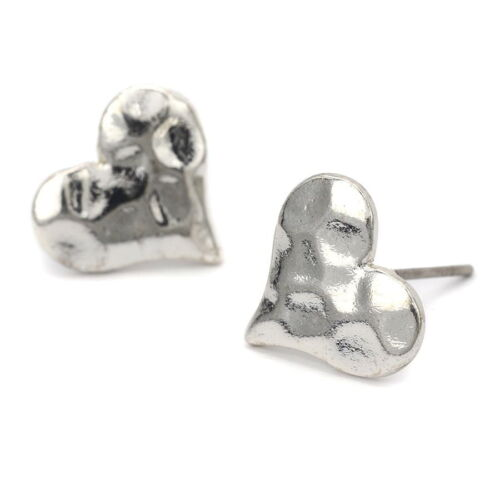 Studs Hammered Silver
