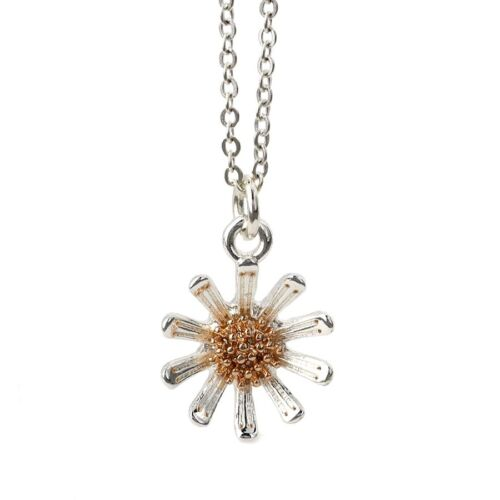 Daisy pendant silver and gold