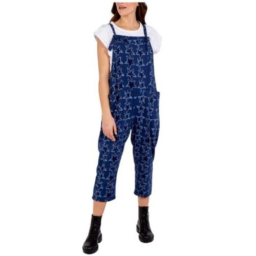 star design dungarees in Navy