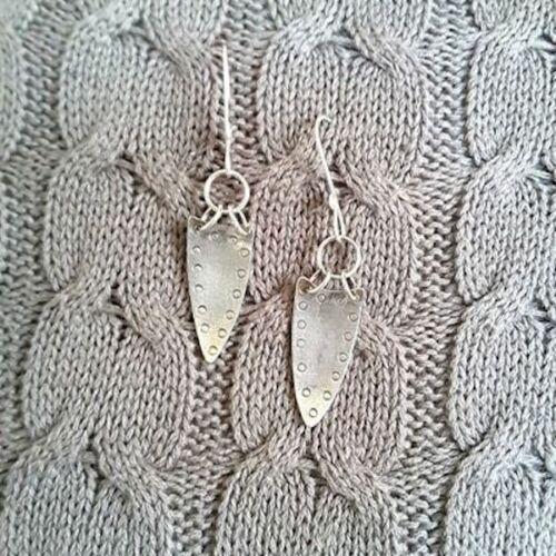 Handmade ladies silver earrings