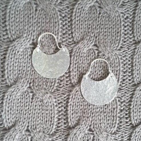 Handmade In Cornwall . Silver earrings