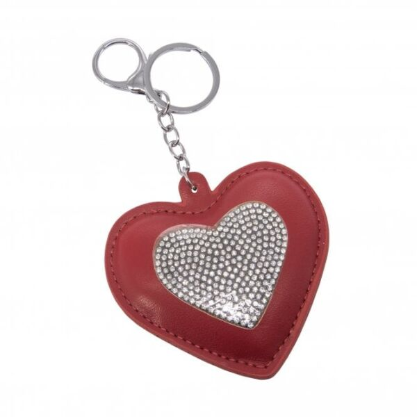 Red Heart Sparkly Keyring