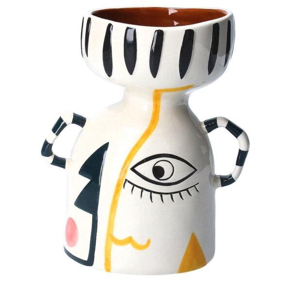 Gisela Graham Ceramic Funnel Vase