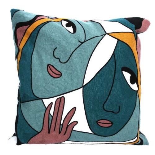 Gisela Graham Modernist Face Design Cushion