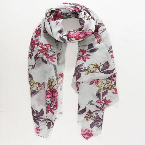 white scarf with pretty flower print