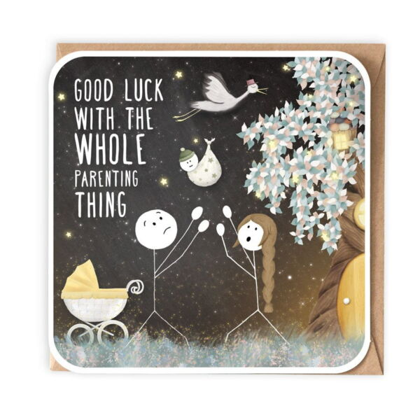 Good Luck With The Whole Parenting Thing Card