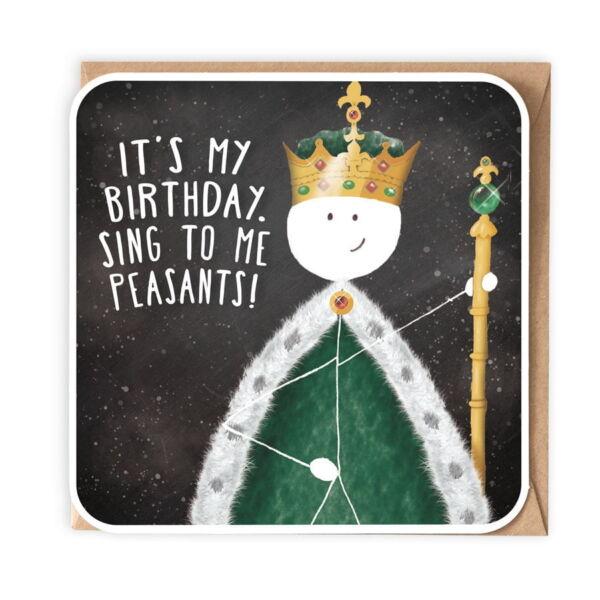 Happy Birthday Card . The King