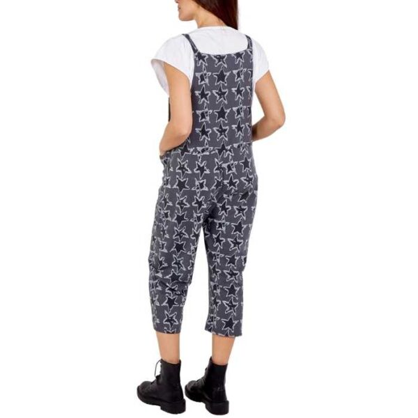 star design dungarees in cotton