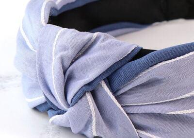 blue stripe headband