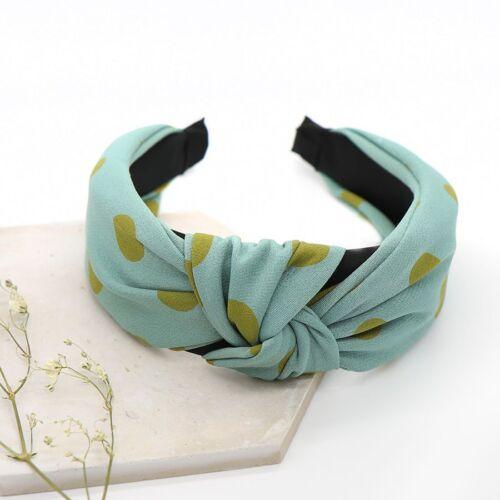 Khaki and green spot headband