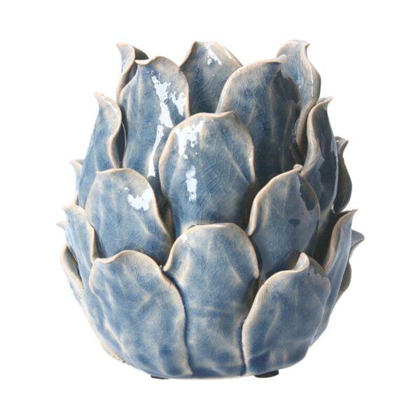 Ceramic T-lite Holder Blue Artichoke