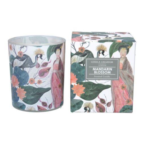 Gisela Graham Boxed Scented Candle Mandarin Blossom