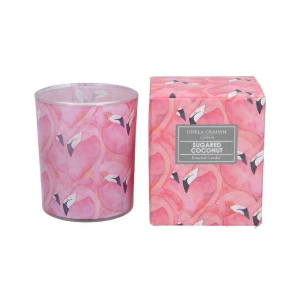 Gisela Graham Boxed Scented candle boxed sugared coconut