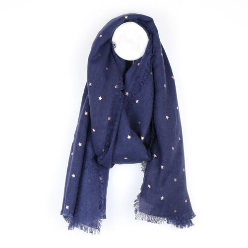 Peace Of Mind Scarf with Rose Gold Stars