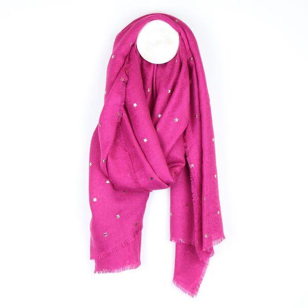 star embellished scarf