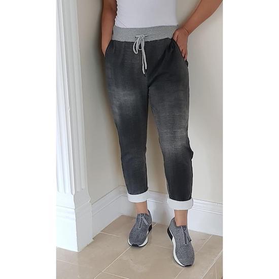 Ladies black denim Magic Trousers