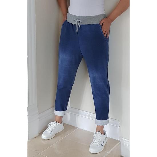 Ladies magic trousers denim