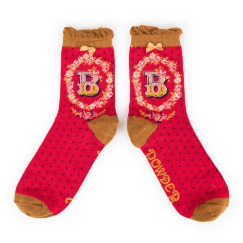 Powder Alphabet socks B
