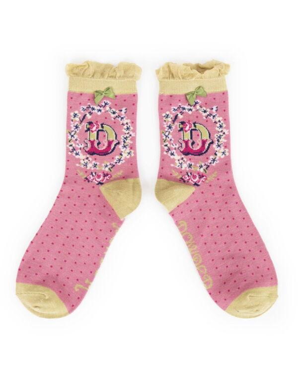 Powder Alphabet socks D