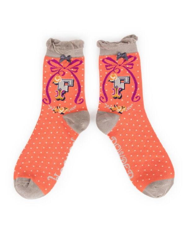 Powder Alphabet socks F