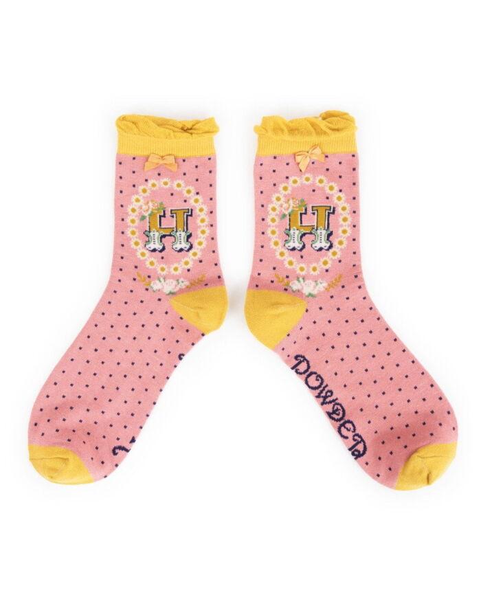 Powder Alphabet socks H