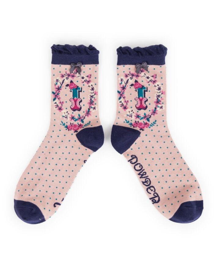 Powder Alphabet socks I