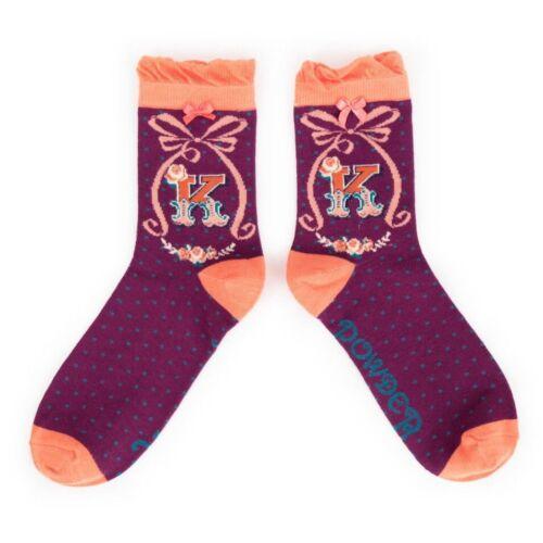 Powder Alphabet socks K
