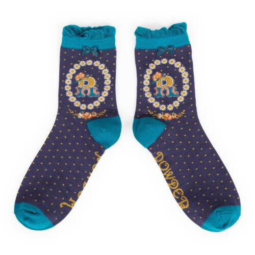 Powder Alphabet socks R