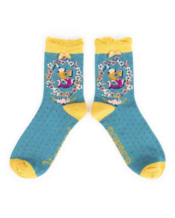 Powder Alphabet socks S