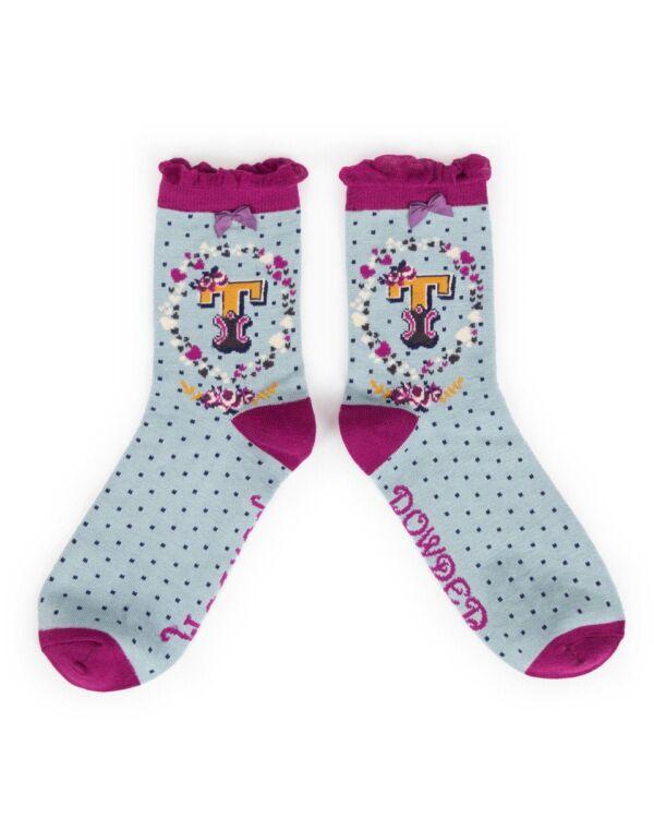 Powder Alphabet socks T