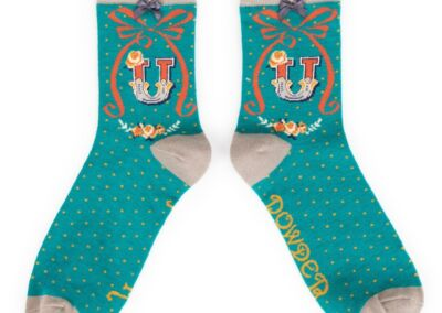 Powder Alphabet socks U