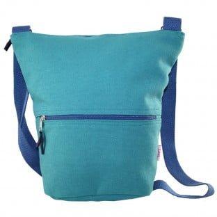 Canvas Slouch Bag. Marine Green