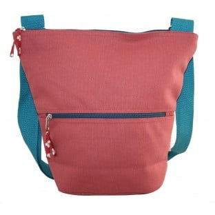 Canvass Slouch Bag. Brick