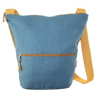 Canvass Slouch Bag Blue