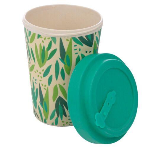Reusable Screw Top Bamboo Travel Cup. Willow