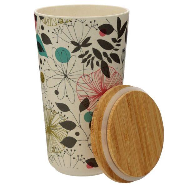 Bamboo Large Storage Jar. Wisewood Botanics.